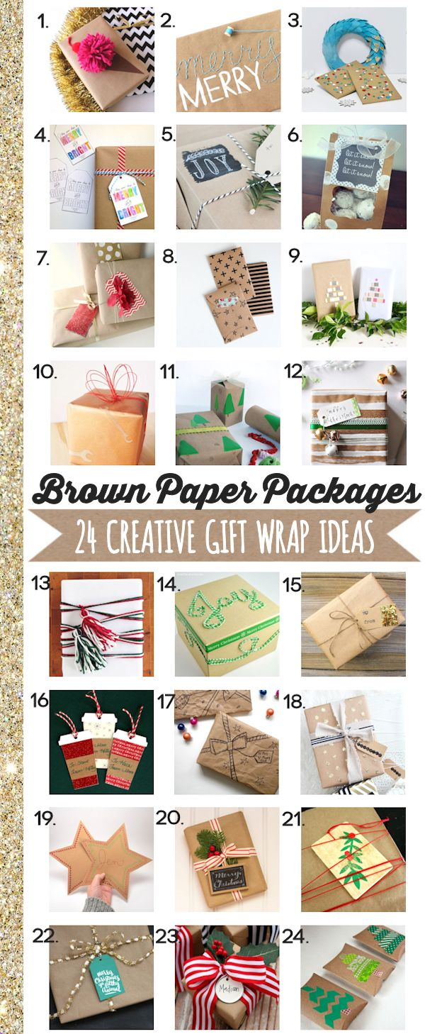 Brown Paper Packages - 24 Creative Gift Wrap Ideas